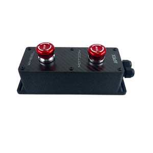 Dual Emergency Stop Switch Box - Apex Sim Racing LLC - Custom Sim Racing Products