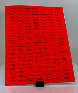 "Apex Sim Racing Labels 1"" x .375"" - Apex Sim Racing LLC - Custom Sim Racing Products"