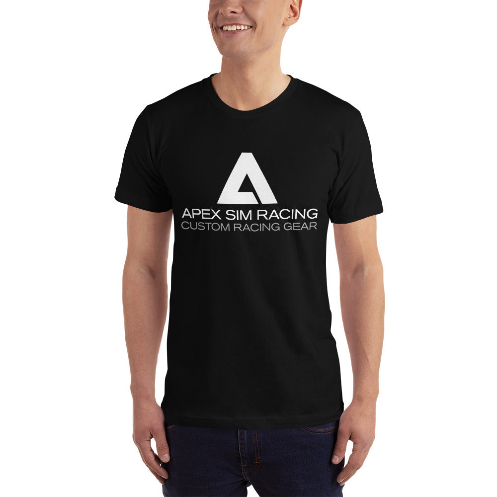 Big A White logo T-Shirt - Apex Sim Racing LLC - Custom Sim Racing Products