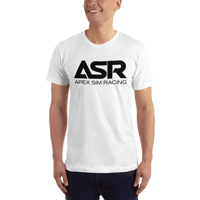 ASR Black Logo T-Shirt - Apex Sim Racing LLC - Custom Sim Racing Products