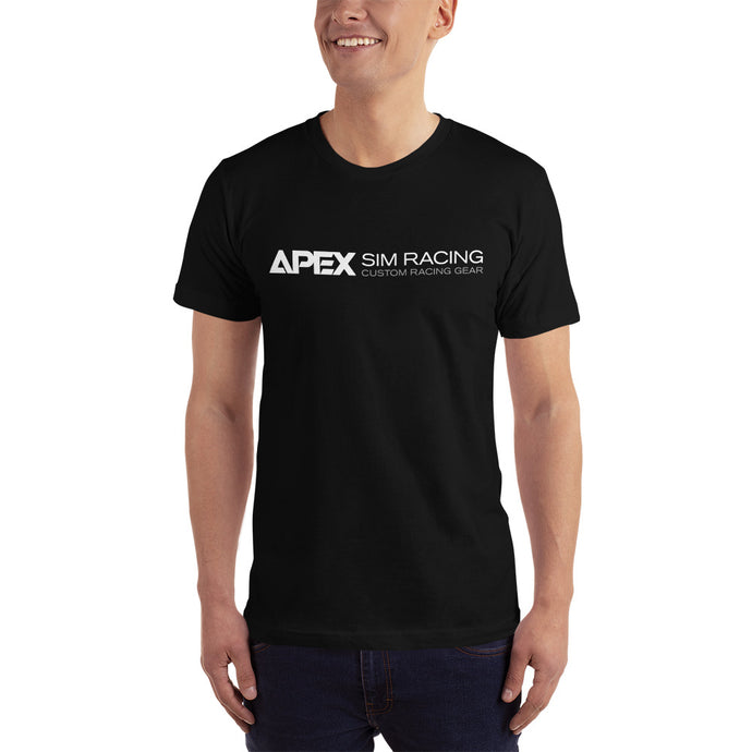 Apex Sim Racing White Logo T-shirt - Apex Sim Racing LLC - Custom Sim Racing Products