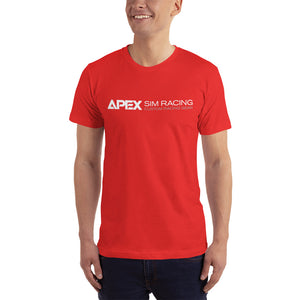 Apex Sim Racing White Logo T-shirt - Apex Sim Racing