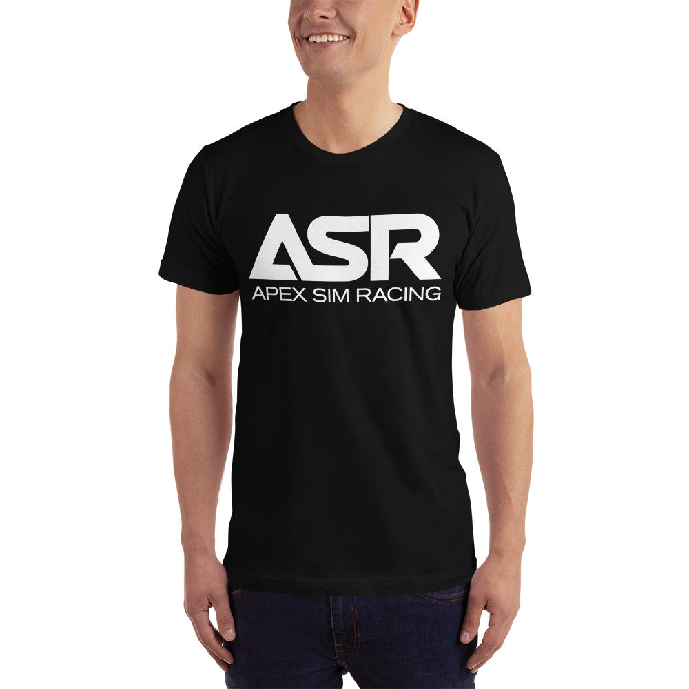 ASR White Logo T-Shirt - Apex Sim Racing