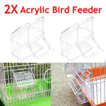 Acrylic Bird Food/Water Dispenser Set Of 2