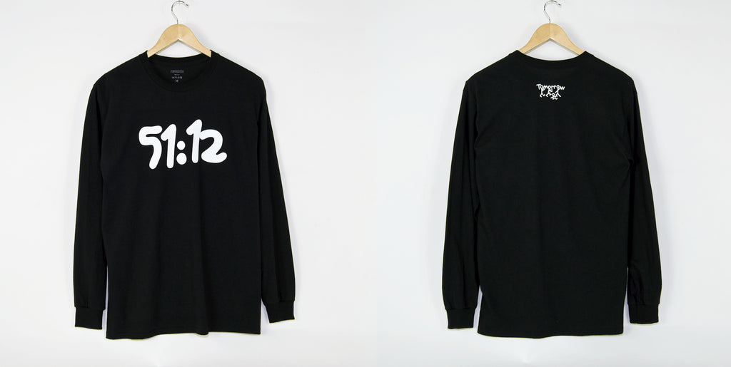Tomorrow Store - 51:12 Longsleeve T-Shirt - Black