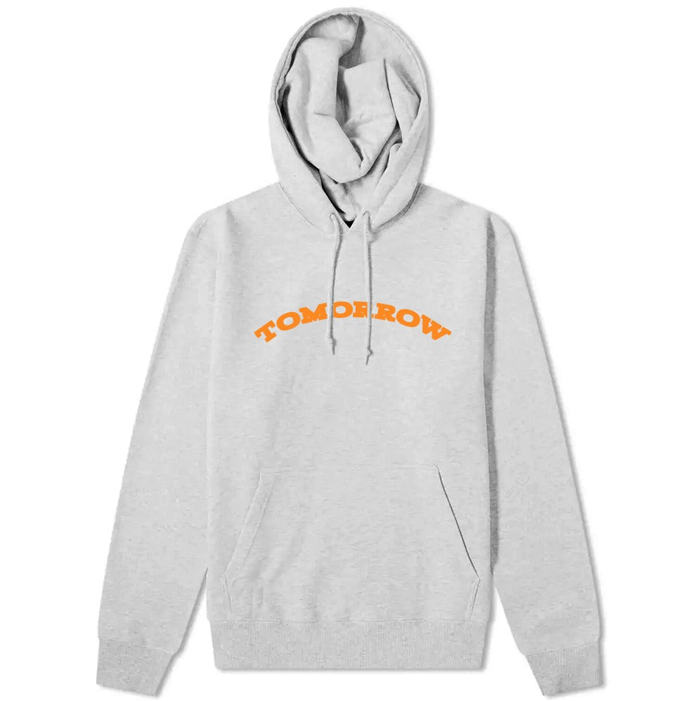 Tomorrow - Tomorrow - Logo Hooded Sweatshirt - Grey & Orange