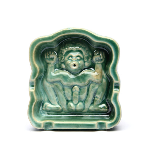 Domestik - Lingga Ashtray / Incense Burner - Green Glazed
