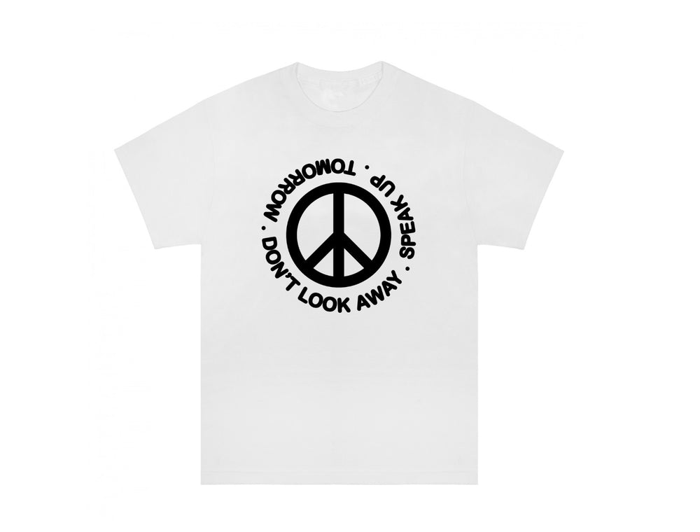 Tomorrow - Tomorrow - DON'T LOOK AWAY / SPEAK UP T-Shirt - White