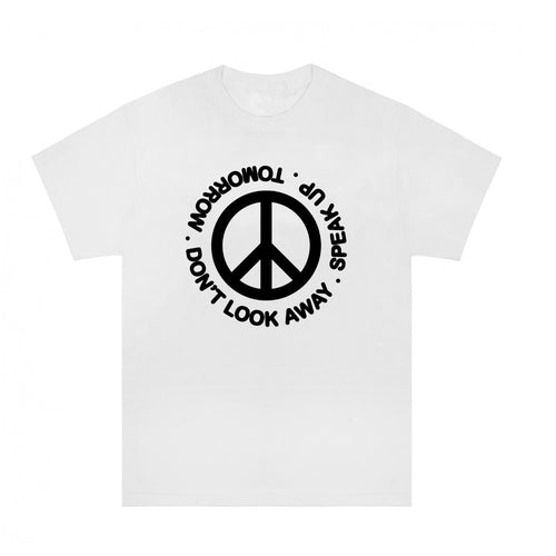 Tomorrow - DON'T LOOK AWAY / SPEAK UP T-Shirt - White