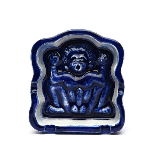 Domestik - Lingga Ashtray / Incense Burner - Blue Glazed