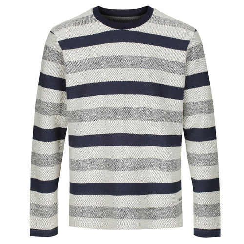 All Day - Waves Long Sleeve Heavy Knit Tee - Navy