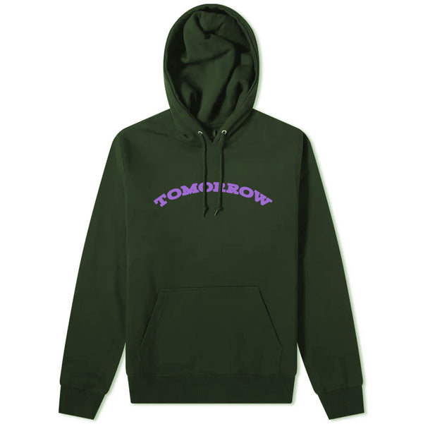 Tomorrow - Tomorrow - Logo Hooded Sweatshirt - Green & Purple