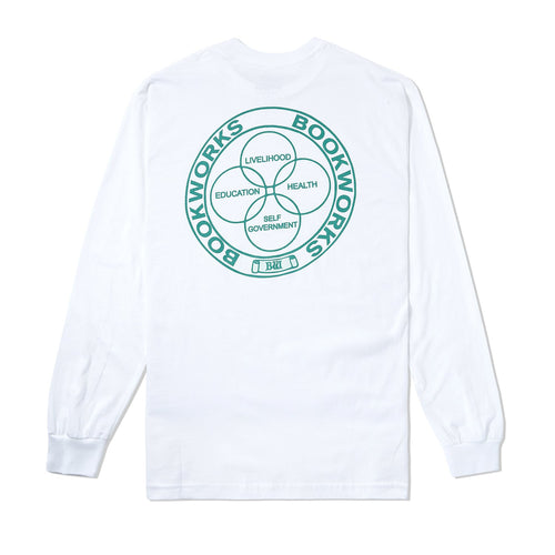 Book Works - Venn LS Tee - White