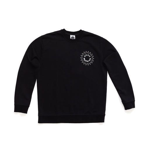 Good Morning Tapes - Sun Logo Crewneck Sweater - Black