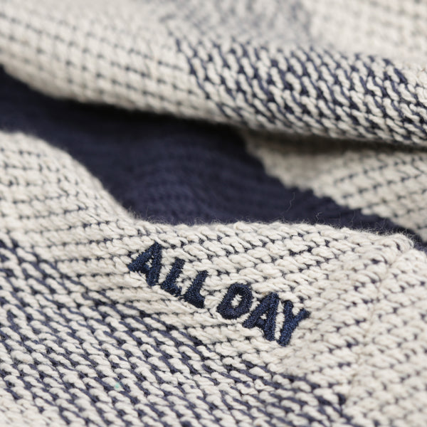 All Day - All Day - Waves Long Sleeve Heavy Knit Tee - Navy