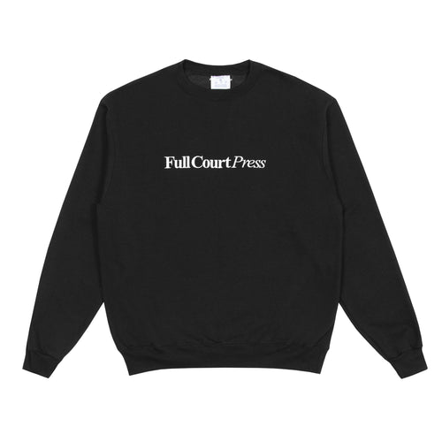 Full Court Press - Logo Crewneck - Black