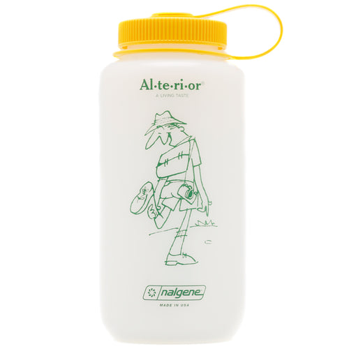 JAM for Alterior - 32oz Nalgene Wide Mouth Bottle - Frosted White / Yellow