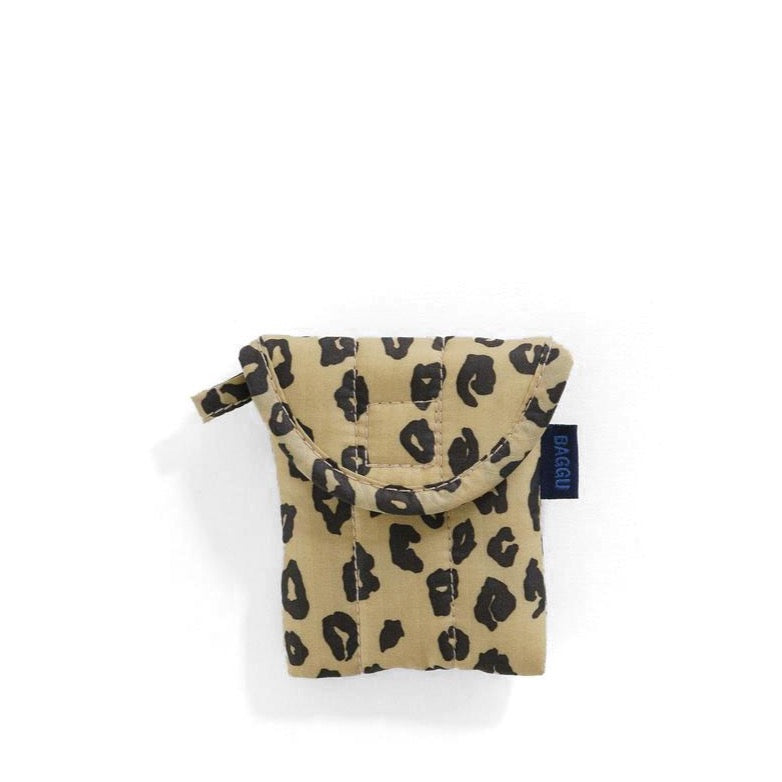 Baggu - Baggu - Puffy Earphone / Air Pods Case - Honey Leopard