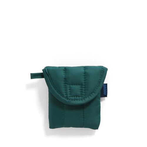 Baggu - Puffy Earphone / Air Pods Case - Malachite