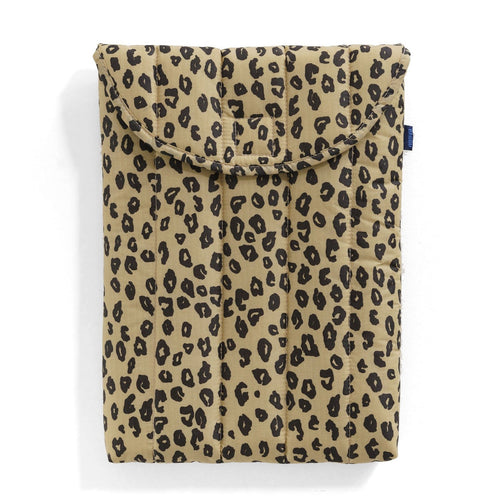 "Baggu - 13"" Puffy Laptop Sleeve - Honey Leopard"