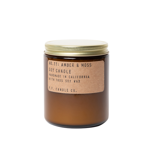 P.F. Candle Co. - 7.2oz Soy Candle - Amber & Moss