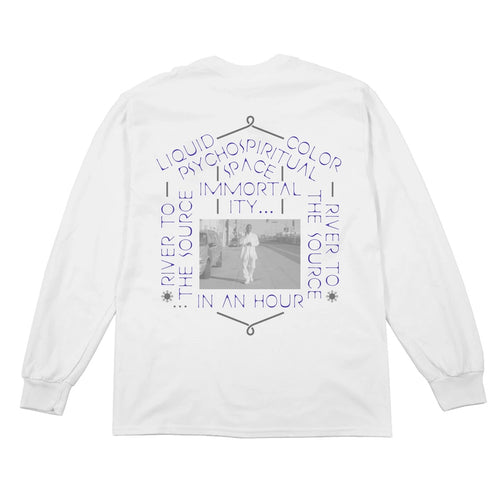 Thermal Bath Long Sleeve Tee -White
