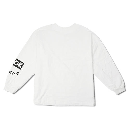 Ramps - A-OK Stick Man Long Sleeve T-Shirt- White