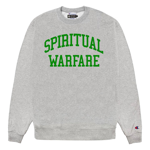 Emerald Worldwide - Spiritual Warfare Sweatshirt - Heather Grey