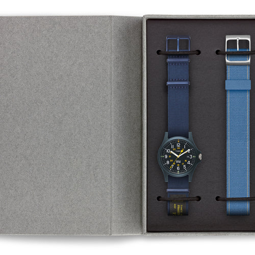 Timex Acadia 40mm Military Grosgrain Strap Watch - Navy