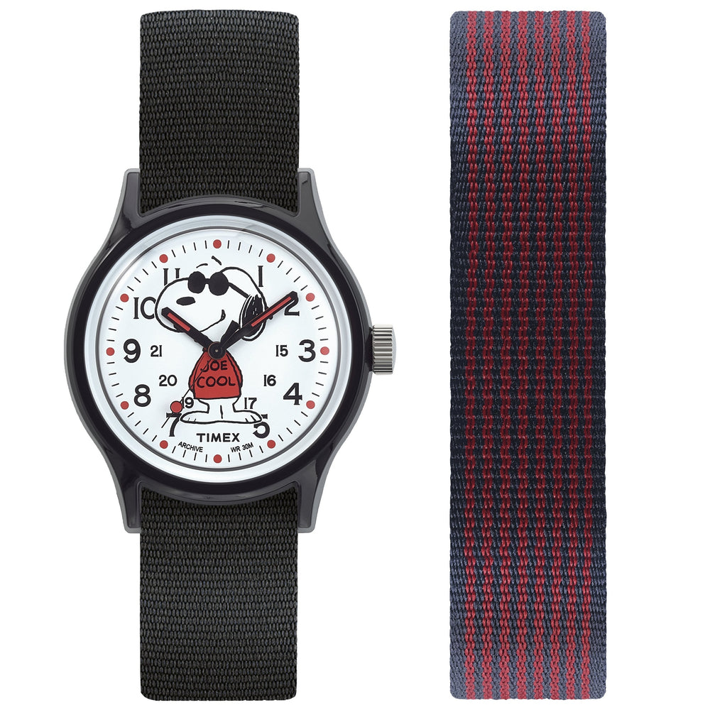 Timex - Timex MK1 x Peanuts - Snoopy 36mm Fabric Strap Watch Box Set