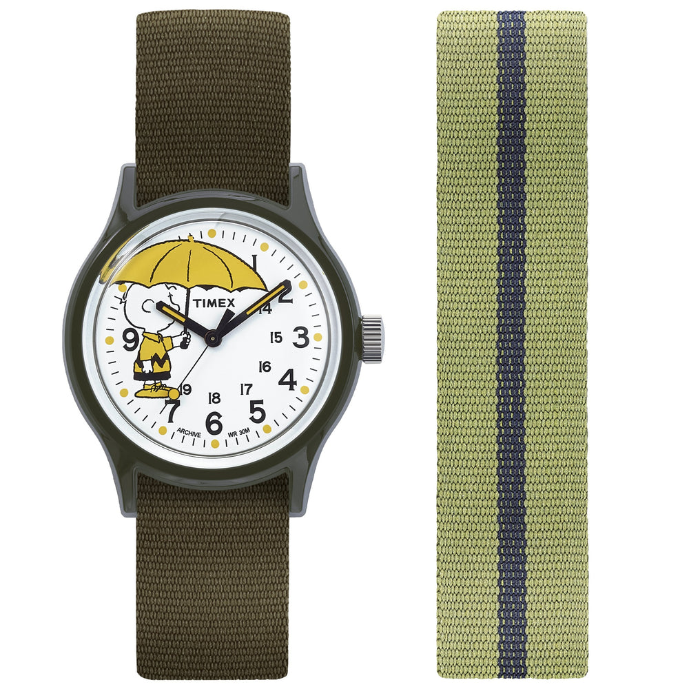 Timex - Timex MK1 - Charlie Brown 36mm Fabric Strap Watch Box Set