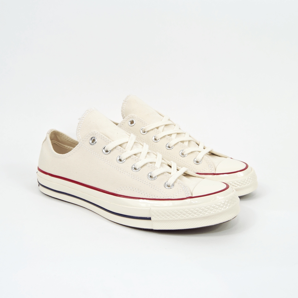 62413ab4f3d Converse - 70s Chuck Taylor All Star Low Shoes - Parchment   Garnet –  Tomorrow Store UK