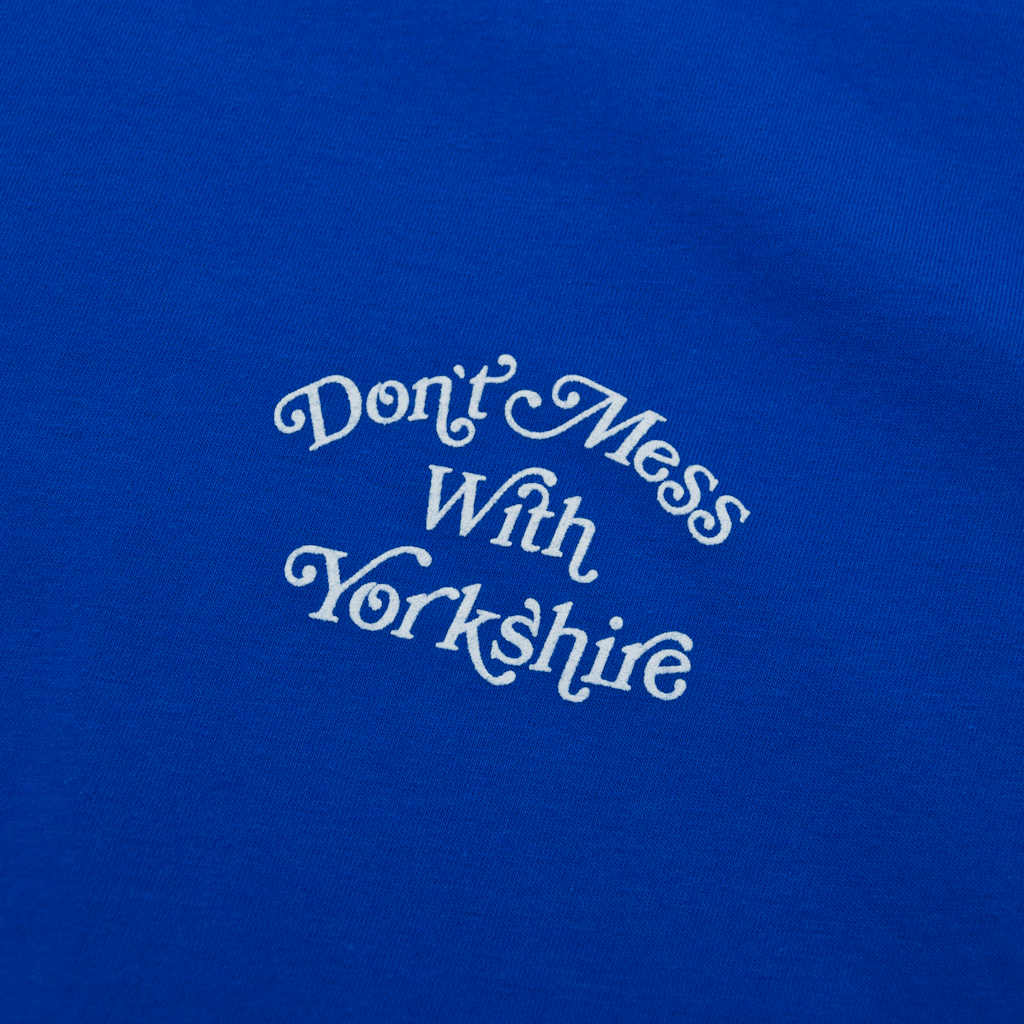 Dont Mess With Yorkshire - Don't Mess With Yorkshire - Script Logo T-Shirt - Blue