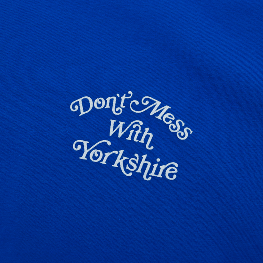 Don't Mess With Yorkshire - Script Logo T-Shirt - Blue