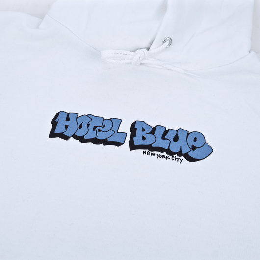 Hotel Blue - Graff Champion Pullover Hooded Sweatshirt - White