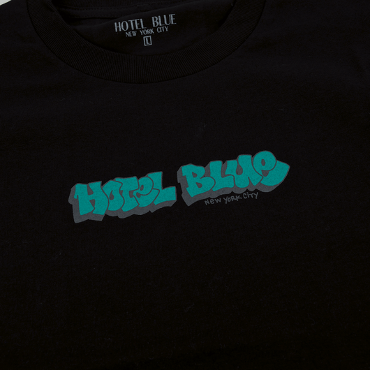 Hotel Blue - Graff T-Shirt - Black
