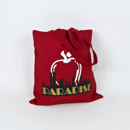 Paradise Big Apple Red Tote Bag