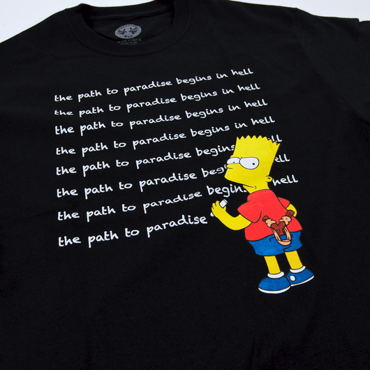Paradise - Existential Bart T-Shirt - Black