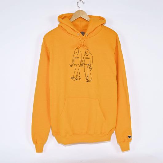 Gonz X Paradise Soulmates Orange Hooded Sweatshirt