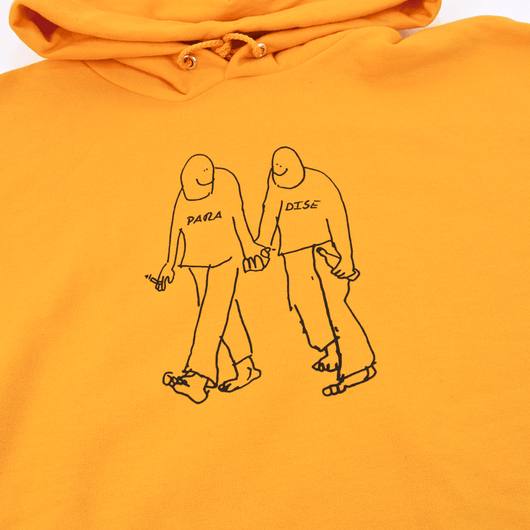 Paradise - Gonz X Paradise Soulmates Hooded Sweatshirt - Orange