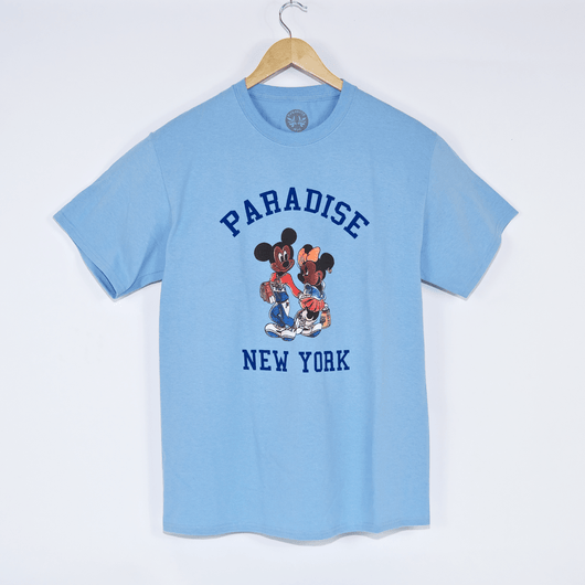 Paradise Mickey And Minnie Blue T-Shirt