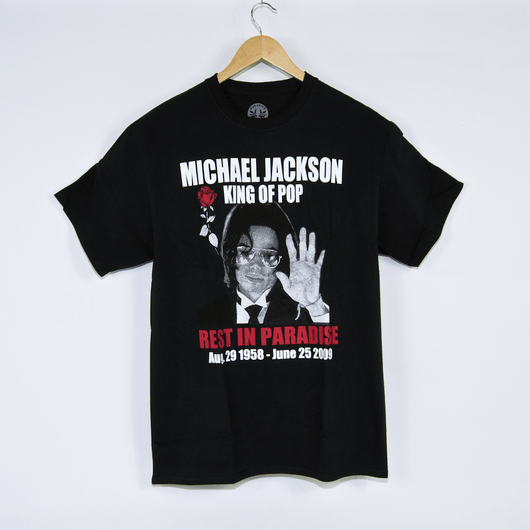 Paradise RIP King Of Pop Black T-Shirt