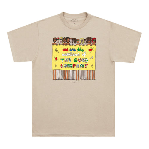 The Good Co - Members Tee - Sand