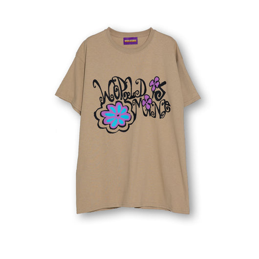 World Is Mine - Florl Tee - Tan