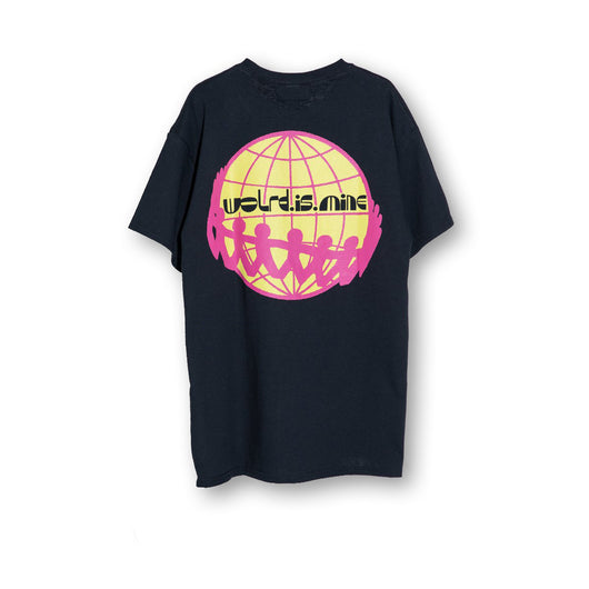 World Is Mine -Globe Tee - Black