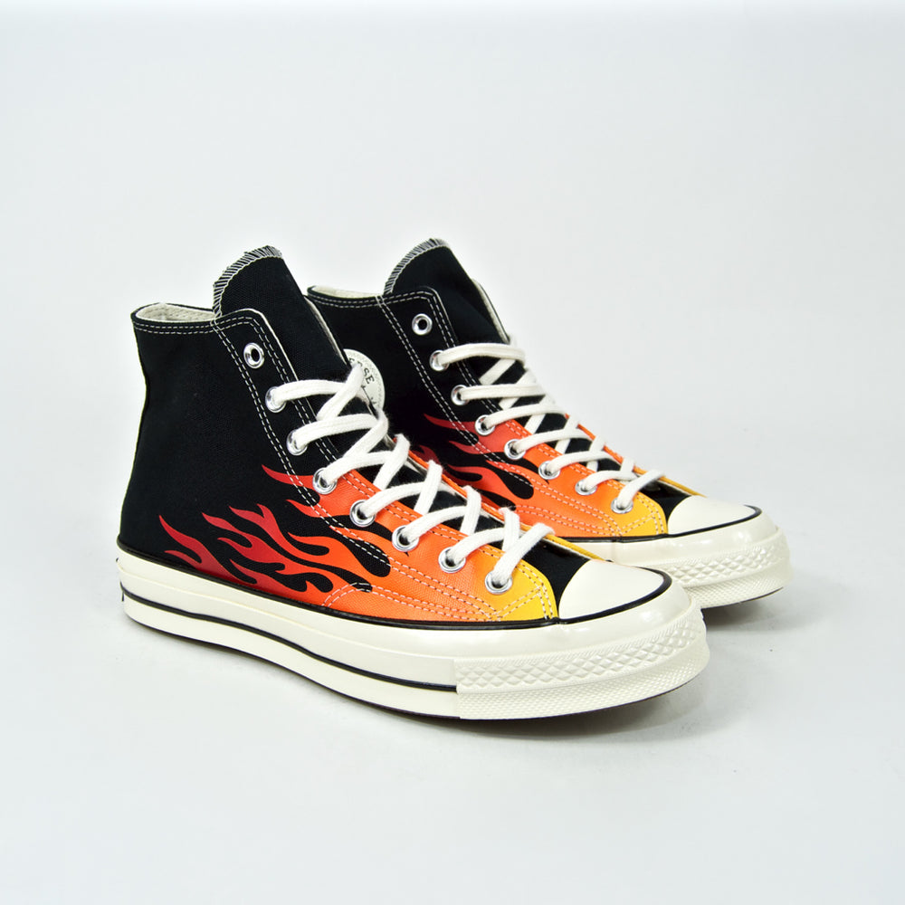 Converse - Converse - 70's Chuck Taylor All Star Hi Shoes - Black / Enamel Red