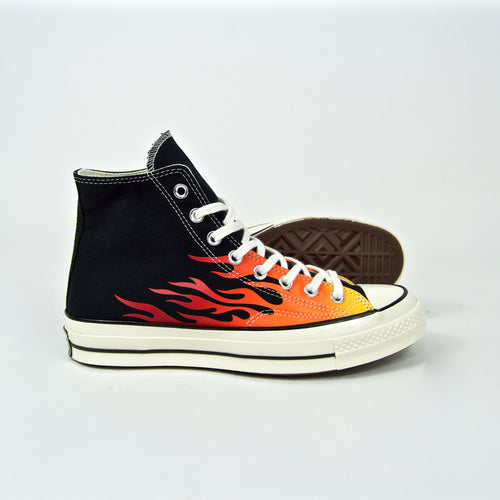 Converse - 70's Chuck Taylor All Star Hi Shoes - Black / Enamel Red