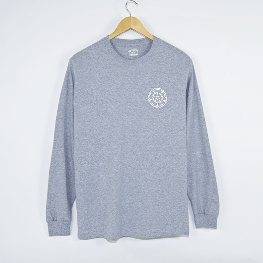 Don't Mess With Yorkshire - Rose Logo Longsleeve T-Shirt - Grey