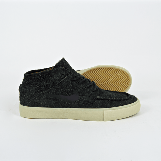 Nike SB - Janoski Mid Crafted Shoes - Black / Golden Beige / Team Gold
