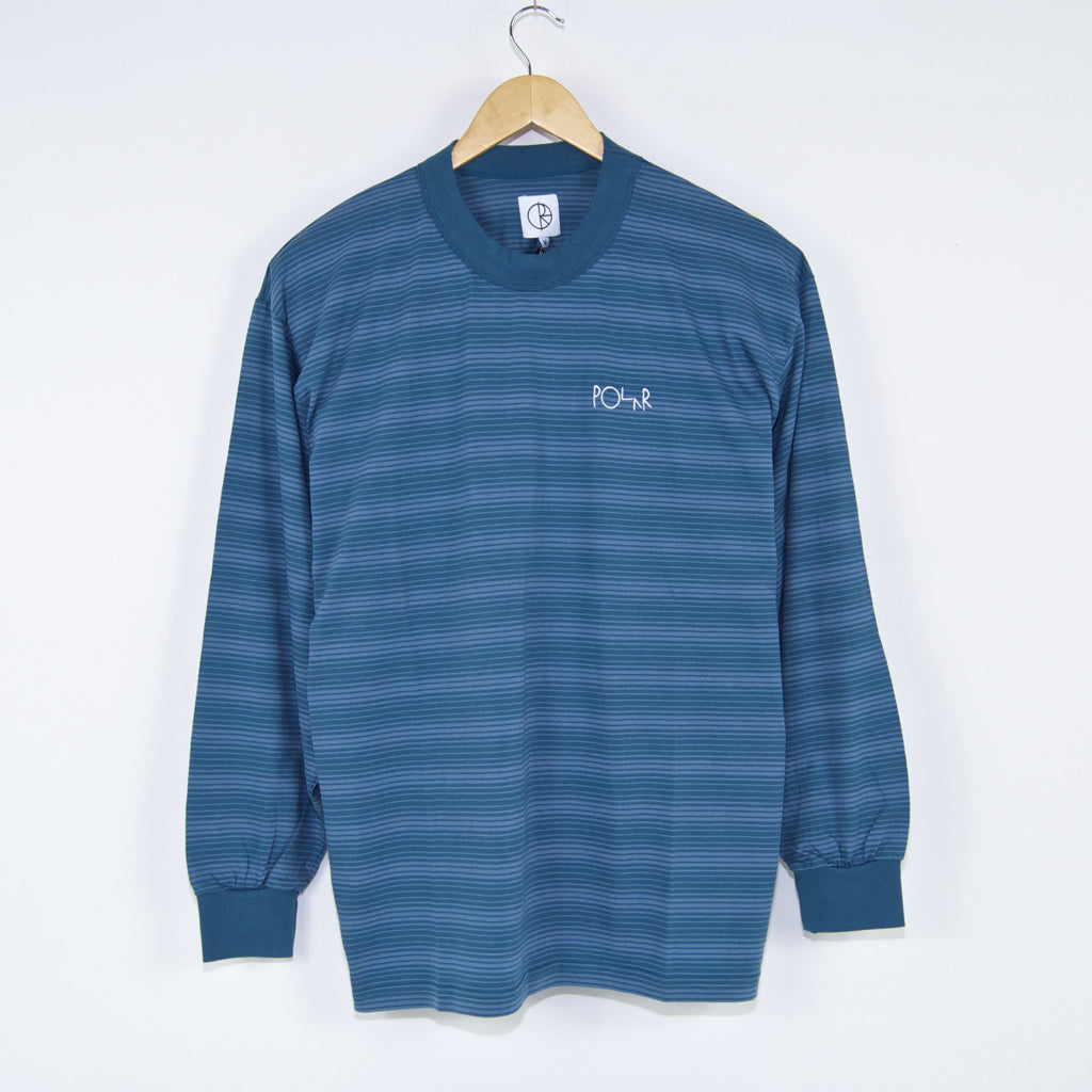 Polar Skate Co. - Polar Skate Co. - Gradient Stripe Longsleeve T-Shirt - Grey Blue